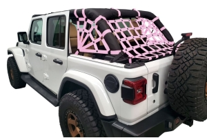 Dirty Dog 4x4 Netting Kit Spider Sides 3pc Pink - JL 4dr