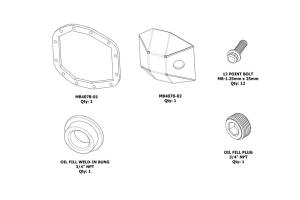 Motobilt DIY Rear DIFF Cover Sport M200  - JT/JL