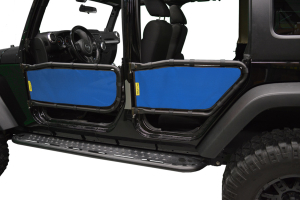 Dirty Dog 4x4 Olympic Tube Door Screen Front & Rear, Blue - JK 4DR