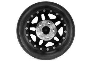 Hutchinson Rock Monster Beadlock Wheel w/Black Caps Matte Black 17x8.5 ( Part Number: WA-0594-017-01)
