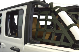 Dirty Dog 4x4 2pc Cargo side only Netting Kit, Olive Drab Green - JL 4Dr