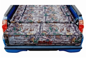 AirBedz Mid-Size 5-5.5ft Short Bed Air Mattress w/ Air Pump and Tailgate Extension Mattress - Camo