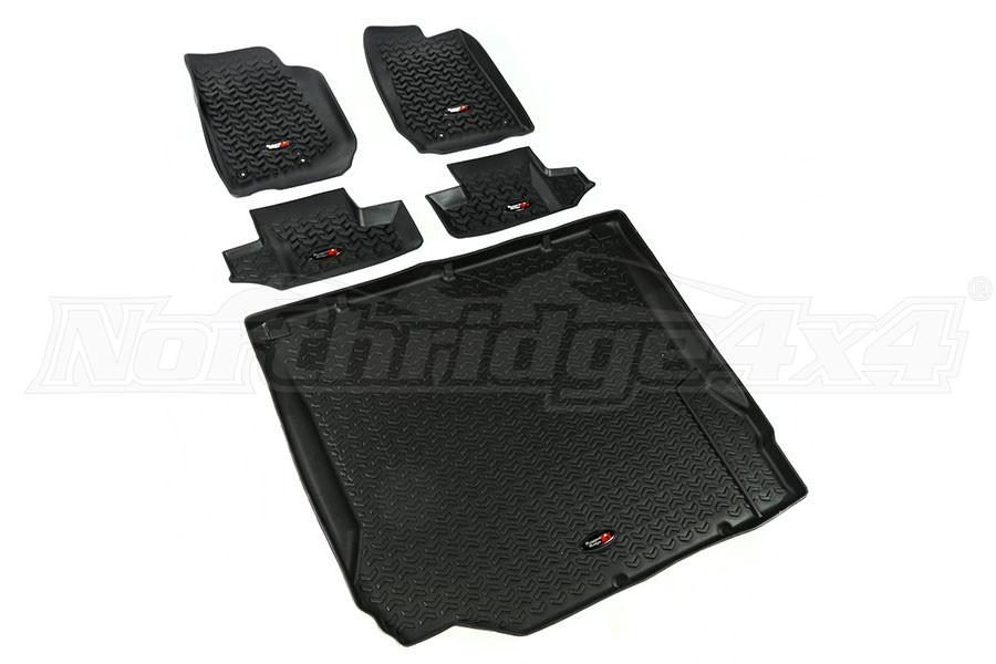 Rugged Ridge Floor Liner Kit, Black (Part Number:12988.02)