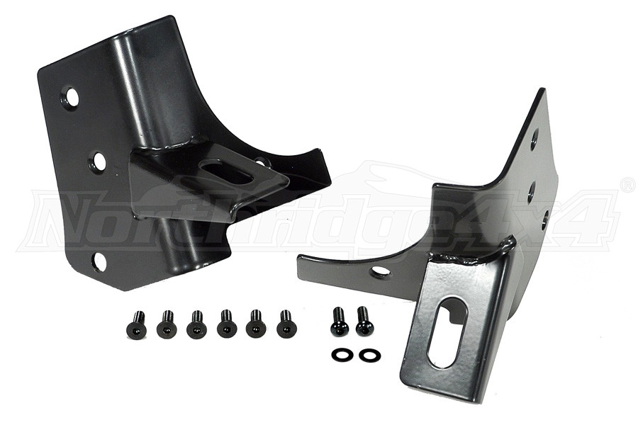 Rugged Ridge Windshield Auxiliary Light Mounting Brackets  - TJ/LJ