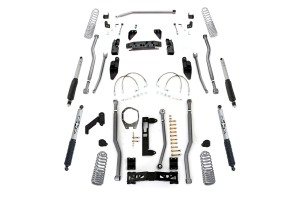 Rubicon Express Progressive Coil Extreme Duty 4-Link Front/3-Link Rear Lift Kit 3.5in No Shocks ( Part Number: JK4343PM)