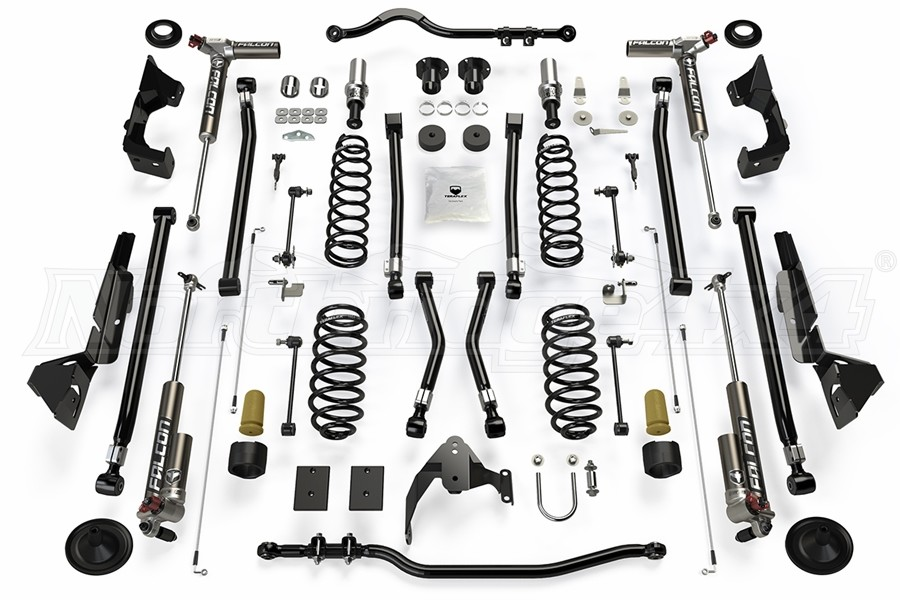 Teraflex Alpine RT4 Long Arm Lift Kit - w/Falcon 3.3 Adjust. Shocks - JK 2dr