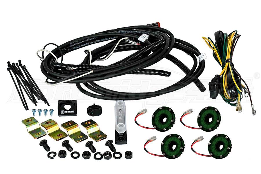 KC Hilites Rock Light Kit, 4 Lights, Green (Part Number:91024)