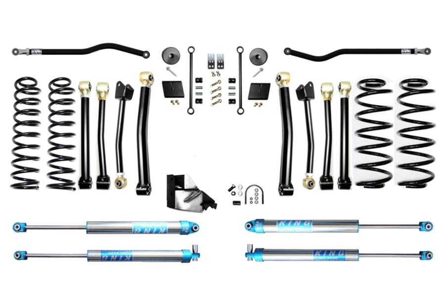 Evo Manufacturing 4.5in Enforcer Stage 4 PLUS Lift w/ King 2.0 Shocks - JL Diesel