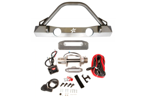 Crawler Conceptz Ultra Series Front Bumper and Warn M8000-S Winch Package ( Part Number: WRNPKG-3)
