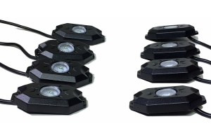 Quake LED 8 Piece RGB Accent Rock Lights with Controller, Quad Lock/Interlock Compatible