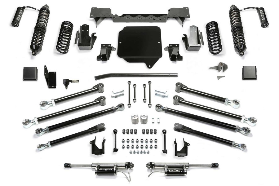 FabTech 5in Crawler Lift Kit w/ Front RESI Coilovers and Rear RESI Shocks - JT