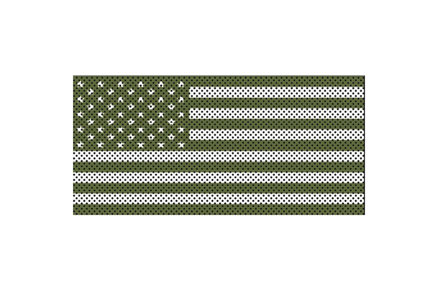 Under The Sun Inserts Olive Drab Old Glory White Stars And Stripes Grill Insert (Part Number:INSRT-OLVDBWHTSS-JK)