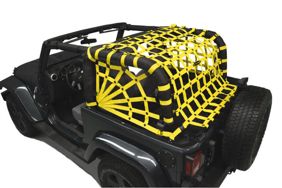Dirty Dog 4x4 Spider Netting Rear Yellow (Part Number:J2NN07RSYL)