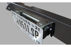 LOD Universal Front Bumper Fairlead Flip-Up License Plate Mount - JT/JL/JK