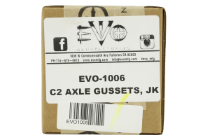 EVO Manufacturing C2 Knuckle Gusset Kit Front ( Part Number: 1006)