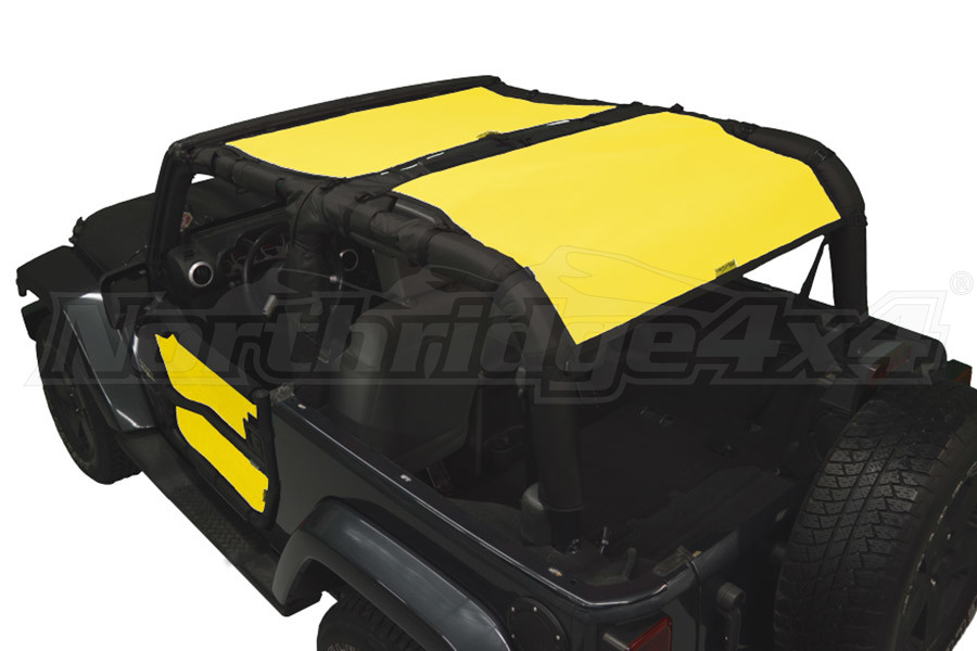 Dirty Dog 4x4 Sun Screen Front and Rear, Yellow (Part Number:J2SS07F2YL)