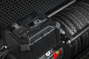 Rugged Ridge Winch, 12500 LBS, Synthetic Rope, Waterproof (Part Number: )