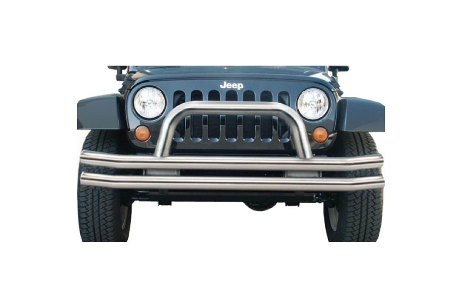 Rampage Products Front Double Tube Bumper, Stainless Steel  (Part Number:86420)
