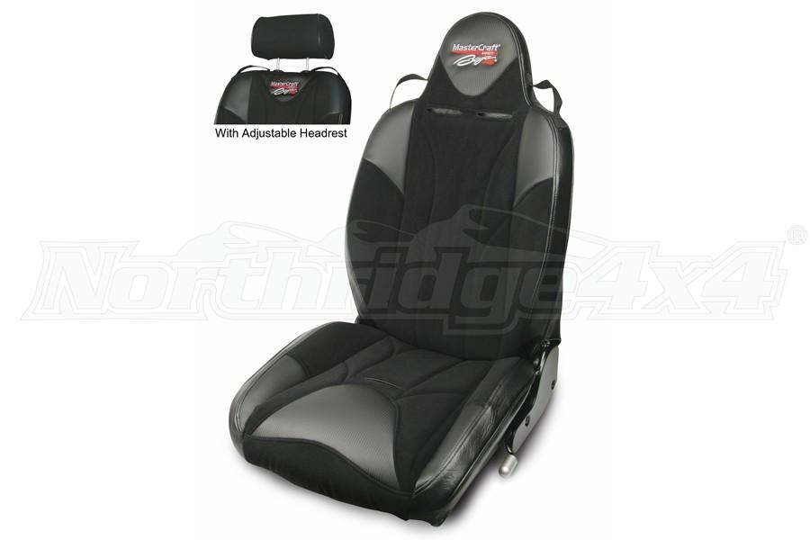 MasterCraft Baja RSDirtSport Reclining Seat w/Adj. Headrest - Black/Black/Black