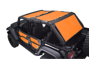 Dirty Dog 4x4 Sun Screen 3 pc Front, Back and Cargo Orange (Part Number: )