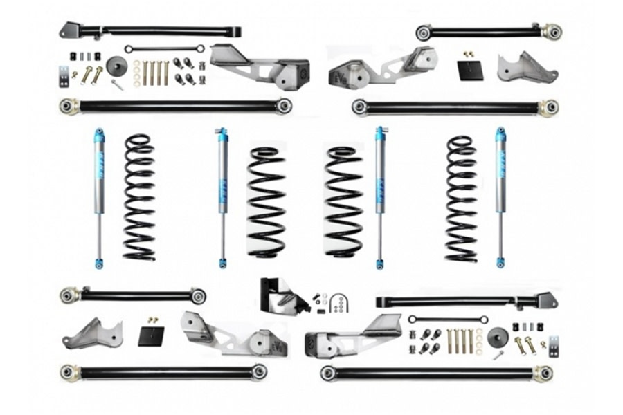 Evo Manufacturing HD 4.5in High Clearance Long Arm Lift Kit w/ King 2.0 Shocks - JL 4Dr