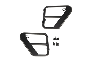 Rugged Ridge Rear Fortis Tube Doors, Black  - JK 4Dr