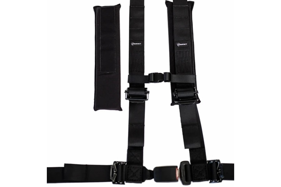 Bartact 2in x 2in Automotive Buckle Harness - Black