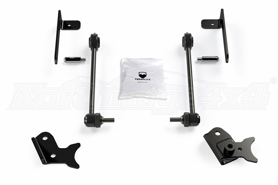 Teraflex Front Quick Disconnect w/ Swivel Stud Kit, Pair - 0-4in - JT/JL
