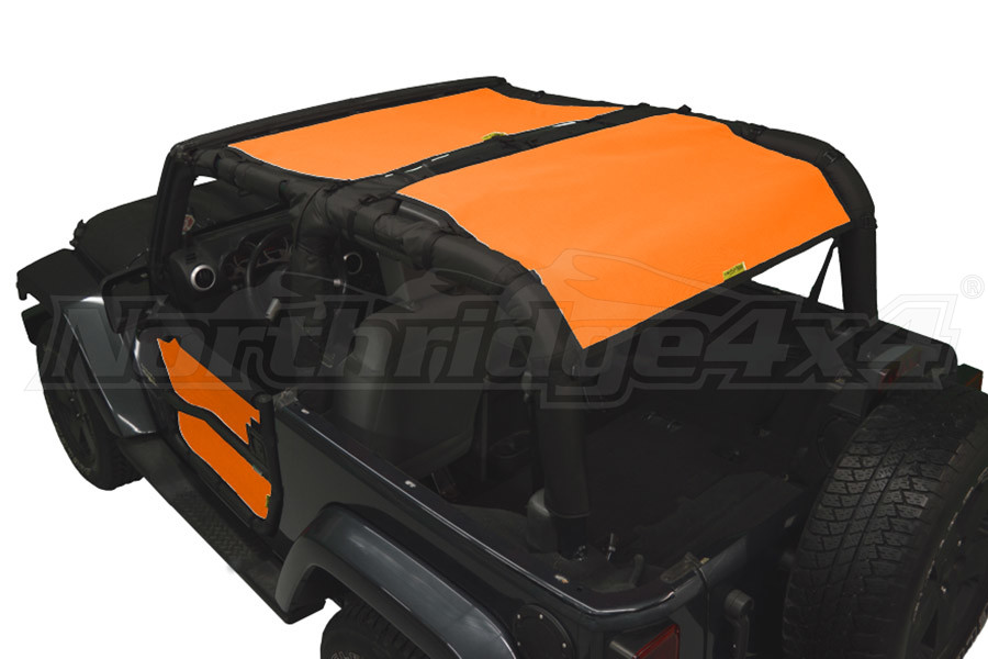 Dirty Dog 4x4 Sun Screen Rear Only Orange (Part Number:J2SS07R1OR)