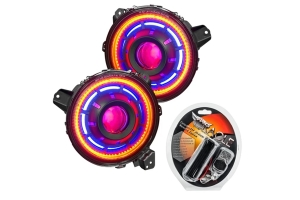 Oracle Oculus ColorSHIFT Bi-LED Projector Headlights - Wireless Controller - JT/JL