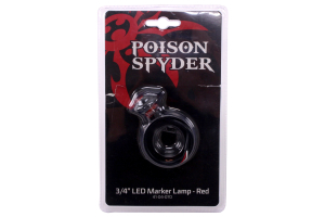 Poison Spyder 3/4in LED Marker Lamp Red (Part Number: )