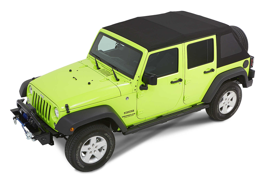 Bestop Trektop NX Glide Convertible Soft Top Black Diamond   JK 4dr