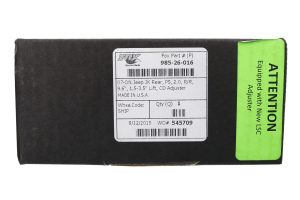 FOX 2.0 Performance Series Adjustable External Reservoir Shock Rear 1.5-3.5in Lift  - JK