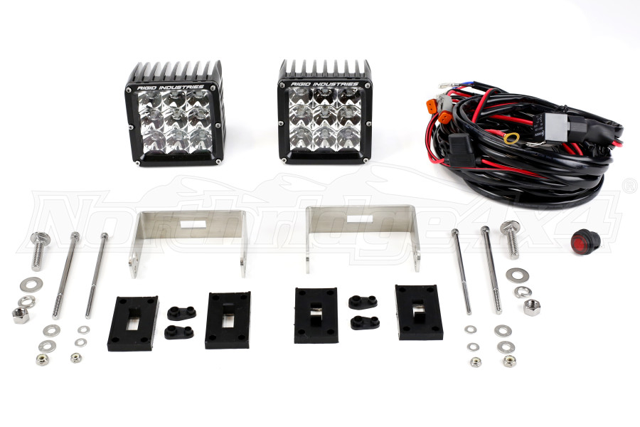 Rigid Industries D-XL PRO Flood Lights, Pair (Part Number:322113)