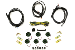KC Hilites Rock Light Kit, 6 Lights, Green (Part Number: 91029)