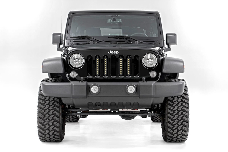 Rough Country 8in Vertical Light Bar Grille Kit (Part Number:70643)