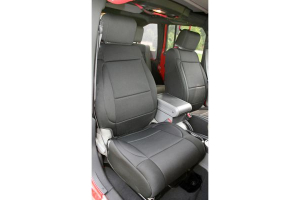 Rugged Ridge Front Seat Covers Black/Black (Part Number: )
