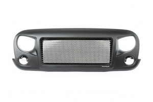 Rugged Ridge Spartan Grill Satin Black (Part Number: )