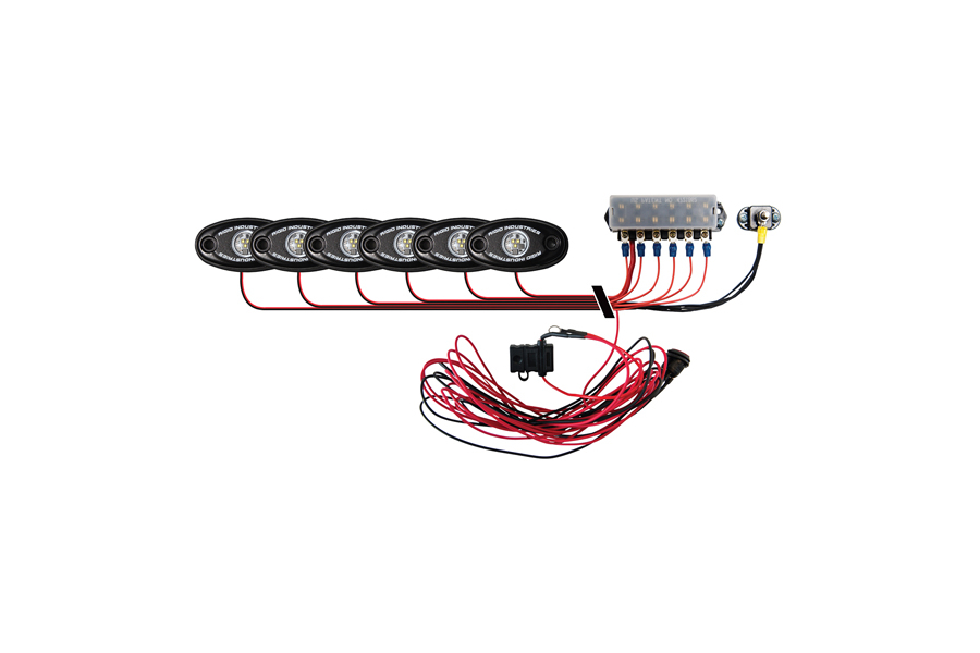 Rigid Industries A-Series Boat Deck Light Kit Blue