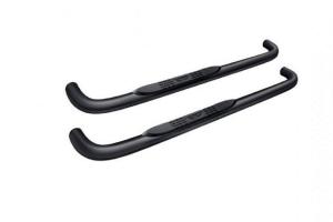 Rampage 3in Round Step Bars, Black - JL 2DR