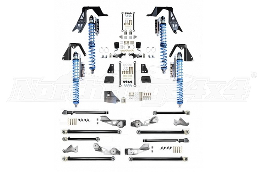 EVO Manufacturing High Clearance PRO Long Arm Coilover Kit w/ Compression Adjusters, Black (Part Number:242BA)