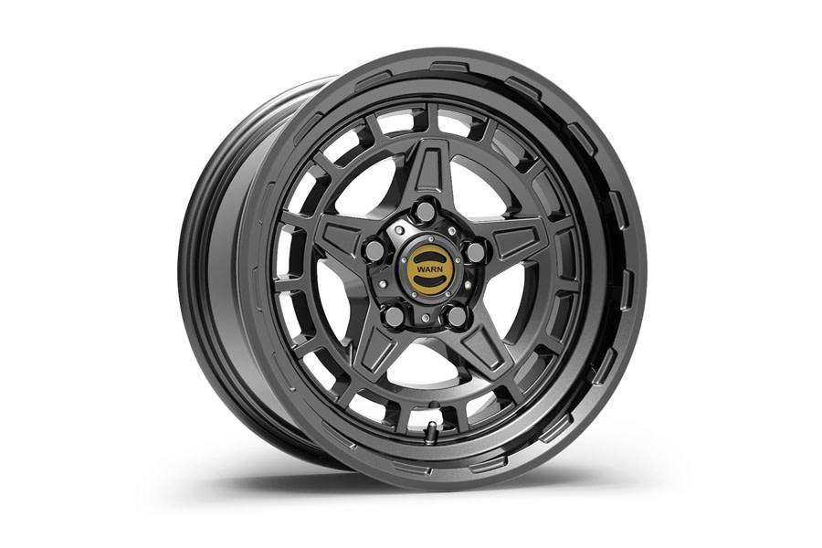 Warn Diamond Cutter Wheel, 17x8.5, 5x5 - Gunmetal - JT/JL/JK
