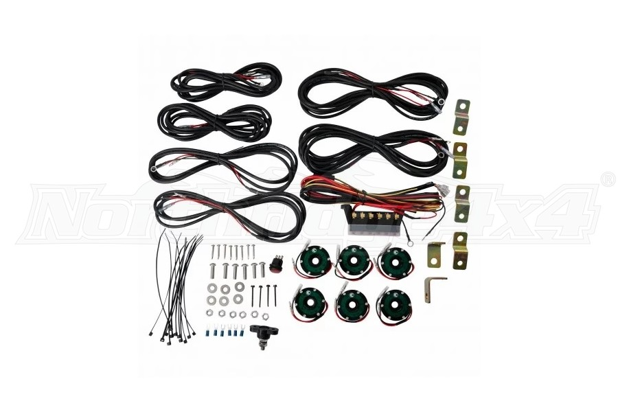 KC Hilites Cyclone 6-Light LED Rock Light Kit - Green