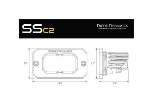 Diode Dynamics SS2 Pro Flush Mount LED Flood, RBL- Pair