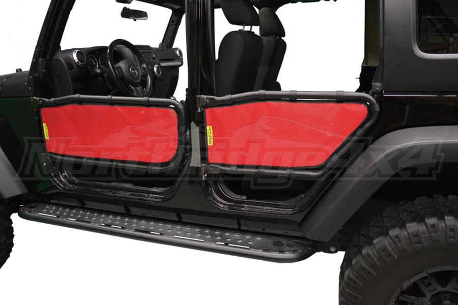 Dirty Dog 4x4 Olympic Tube Door Screen Front & Rear, Red - JK 4DR