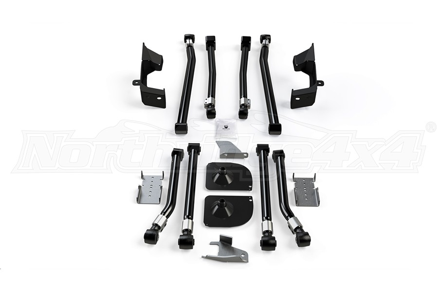 Teraflex Alpine Front Long Flexarm Kit w/2in Rear Stretch Kit - JK