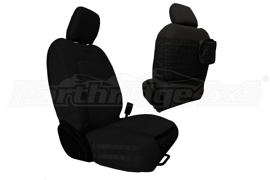 Bartact Tactical Front Seat Covers Black/Black (Part Number:JLTC2018FPBB)
