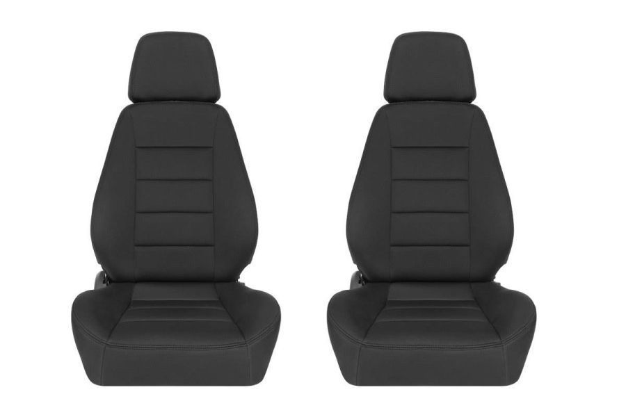 Corbeau Sport Black Neoprene Seat Pair