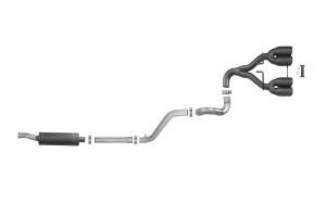 AFE Power Rebel Series 2.5in Cat-Back Exhaust System w/ Black Tip  - JL 3.6L