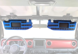 Bartact Visor Covers w/ PALS Webbing for MOLLE attachments, Pair - Blue - JT